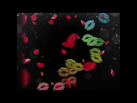 Rainbow Lips And Rose Petals
