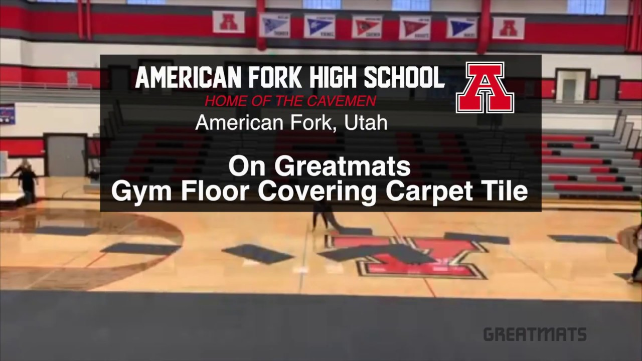 gym floor covering carpet tile time lapse installation video