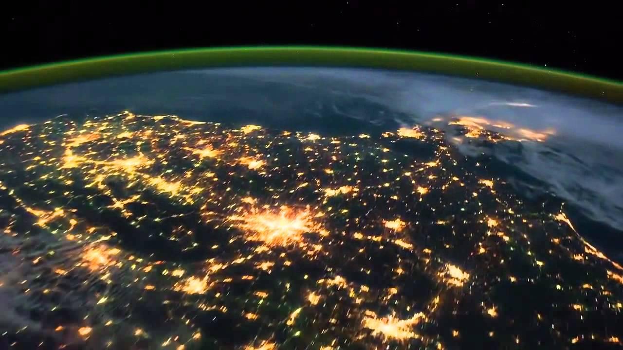 Lapso Del Tiempo Vista Desde El Espacio