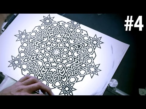 How To Draw Islamic Art - 8 Phases Of The Moon #4