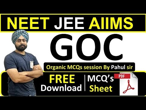 NEET JEE AIIMS | GOC (Organic Chemistry) | Live MCQs Practice | By Pahul Sir