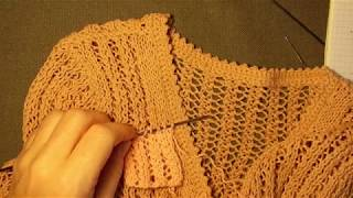 Вязание: Кофта летняя на молнии краткий обзор2 (Сетка)