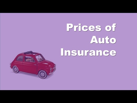 Prices of Auto Insurance | Car Type | Driver Age | Your Driving History