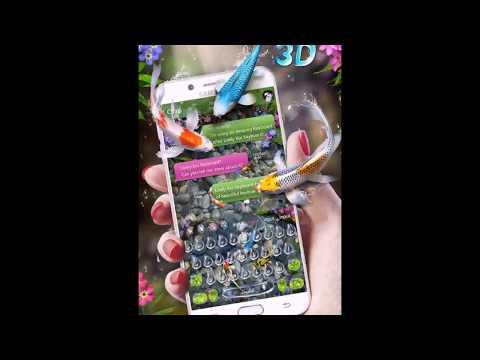 Lively 3D Koi Fish Keyboard Theme