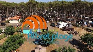 Video drone landes camping Albrets plage par Ideclik