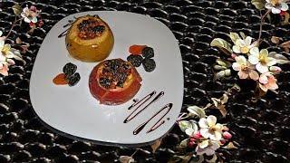 необычные запеченные яблоки: рецепт без сахара
