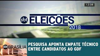 Pesquisa datafolha aponta empate técnico entre candidatos ao GDF | SBT Brasília 07/09/2018