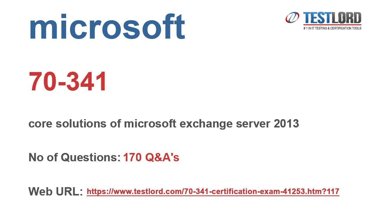 Download Microsoft 70 341 Test Practice Questions Answers Dumps