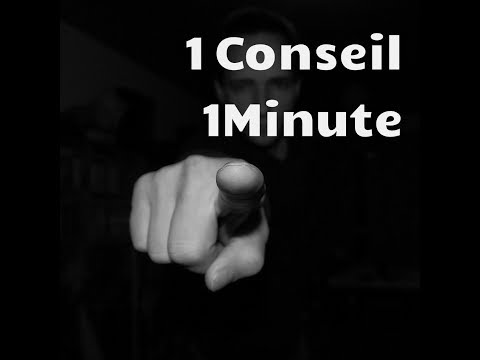 1CONSEIL 1 MINUTE: Respecte le programme que tu t'imposes!