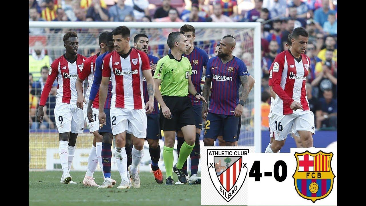 Athletic Bilbao vs Fc Barcelona (4-0) All goals & Extended ...