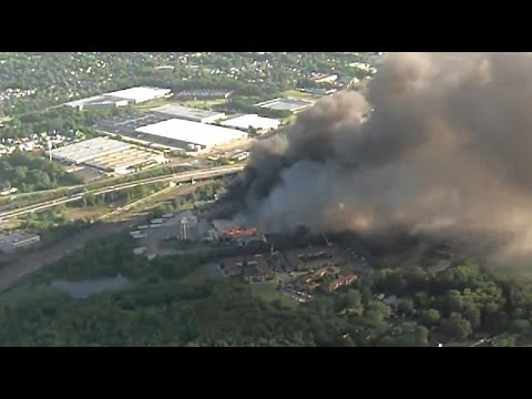 Toyota warehouse fire in New Jersey