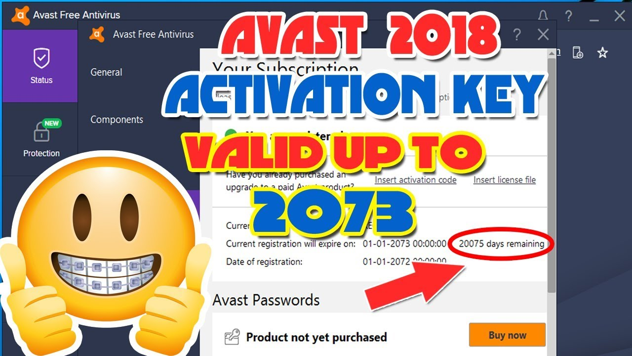 avast working codes