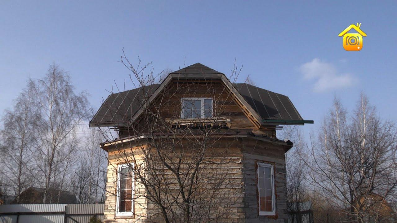 Брусовой дом с балконом над эркером. своими руками // forumh.