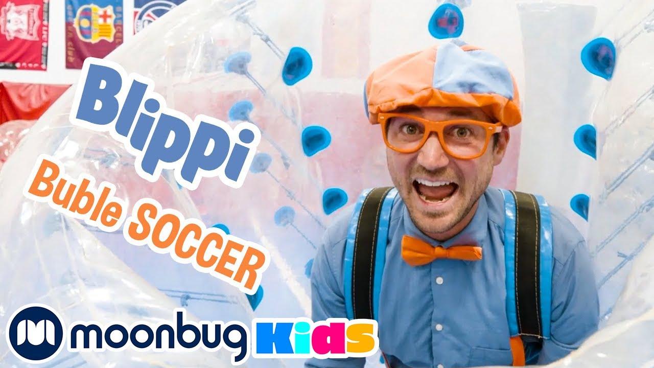 Blippi Visits Bubble Soccer + More Blippi Videos | Kids Cartoons & Nursery Rhymes | Moonbug Kids