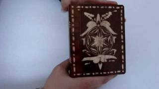 Unbelievable Hungarian Secret Book , Trick, Puzzle, Wooden Carving