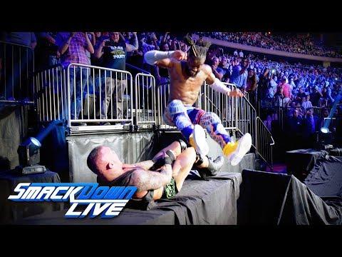 Kofi Kingston leg drops Randy Orton through a table: SmackDown LIVE, Sept. 3, 2019