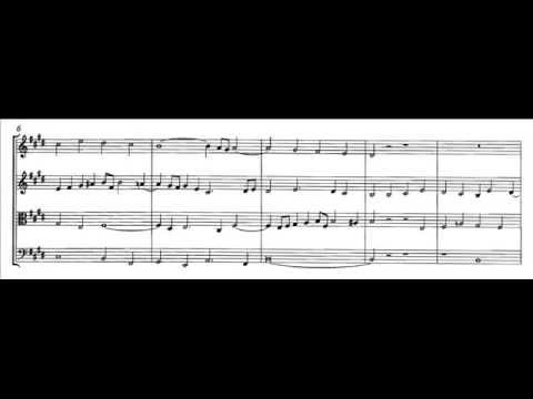 Bach-Mozart, K. 405/3 - Fuga in Mi maggiore (score)
