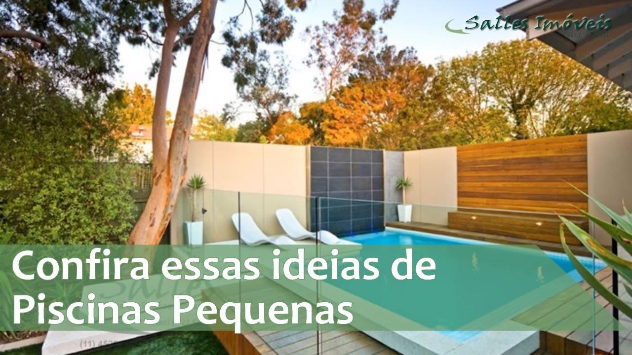 Piscinas pequenas confira essas ideias youtube Fotos piscinas para espacios pequenos