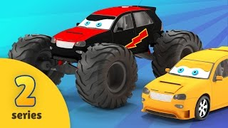 Monster Truck Adventures | EPISODE TWO | Monster Trucks, Crane and Dump Truck Car Wash Construction