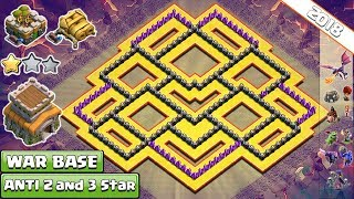 BEST! Town Hall 8 (TH8) Clan-War Base 2018 !! Anti 2 & 3 Star TH8 War Base Layout - Clash of Clans