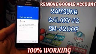 Samsung Galaxy J2 Sm-j200f Remove Google Account Android 6.0.1 Bypass Frp