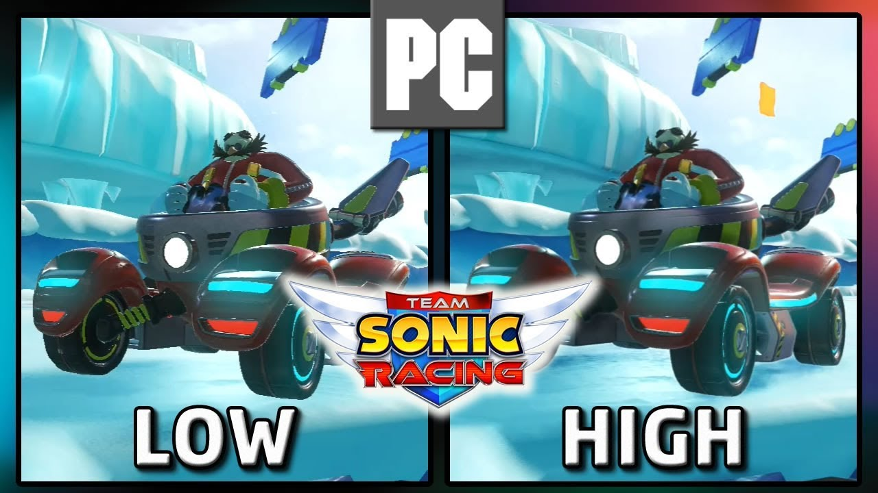 Team Sonic Racing | PC LOW vs PC HIGH | Graphics Comparison