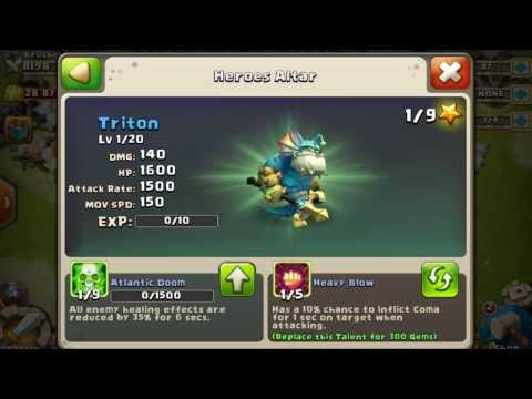 Castle Clash - Buying Triton (New Hero)/ How To Get Triton