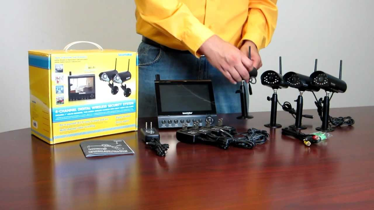 Introducing the SecurityMan DigiLCDDVR4: 4CH LCD SD-DVR combo with 4  wireless cameras