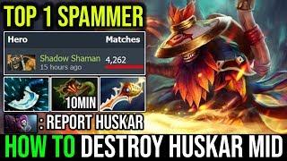 10Min Necronomicon [Shadow Shaman] How to Solo Destroy Huskar Mid WORLD TOP 1 SS SPAMMER Dota 2 WTF