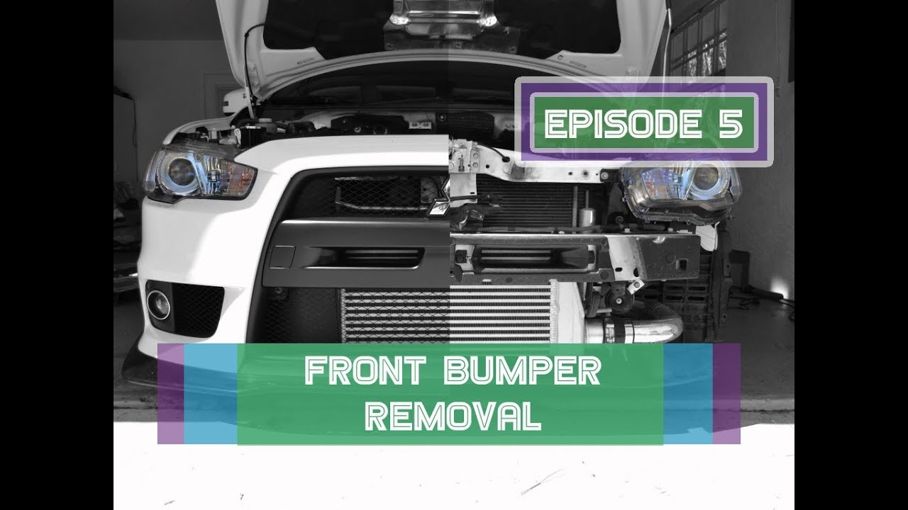 Evo X Front Bumper Removal - Details, Pics, & More !!!