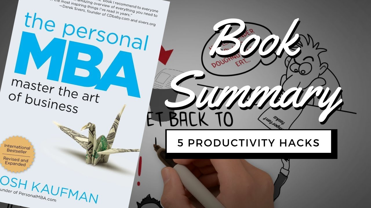 Top 5 Productivity Hacks From The Personal MBA by Josh Kaufman | Animated  Book Review