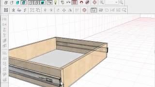 pro100, тумба с верхним выдвижным ящиком(Подробно об изготовлении корпусной мебели: http://www.sdmeb.ru., 2012-07-29T13:59:36.000Z)