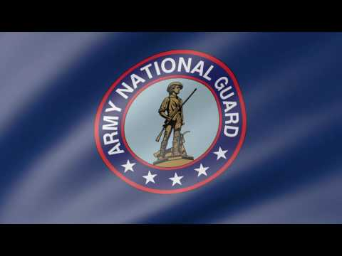 United States Army National Guard Animated Flag