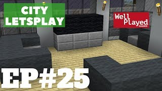 Minecraft Interior House Designing! City Letsplay Ep25