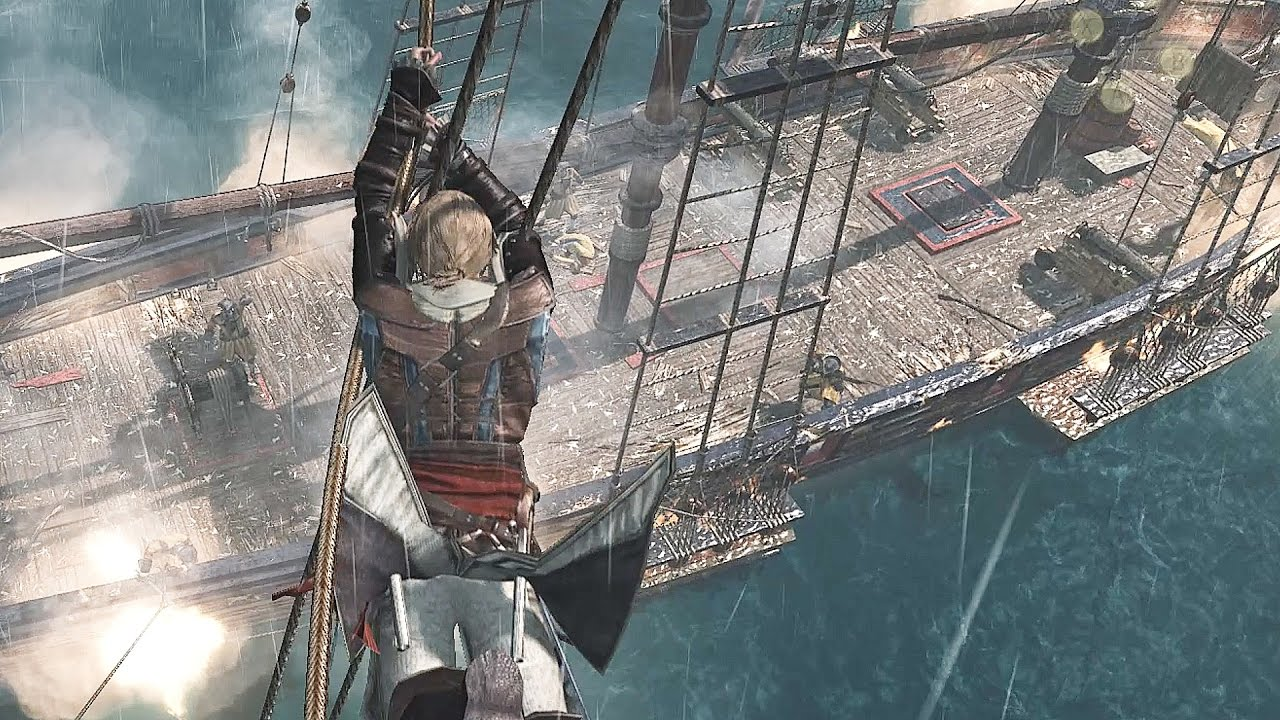 Assassin S Creed 4 Black Flag Edward S Jackdaw Battles Free Roam