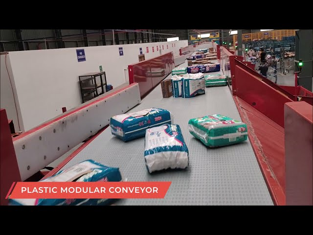 CANOPUS Plastic Modular Conveyor | Volume Distribution System - Conveyor Automation Solutions