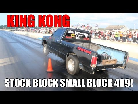 SMALL BLOCK STOCK BLOCK 409 CUBIC INCH S10 ON 1 NITROUS KIT!! KING KONG