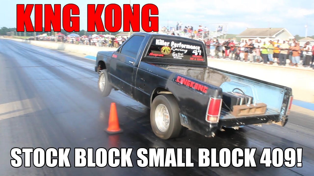 SMALL BLOCK STOCK BLOCK 409 CUBIC INCH S10 ON 1 NITROUS KIT!! KING KONG