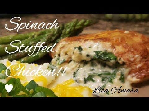 Cream Cheese Spinach Stuffed Chicken!!!!