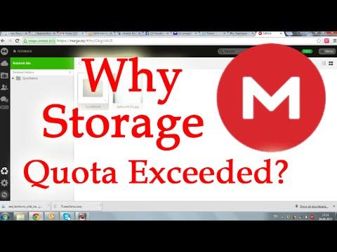 MEGA Cloud Storage Quota Exceeded