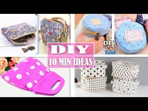 4 DIY SIMPLE MADE NICE PURSE BAG TUTORIAL //10 Min Pouch Ideas No Sewing Skills Need thumbnail