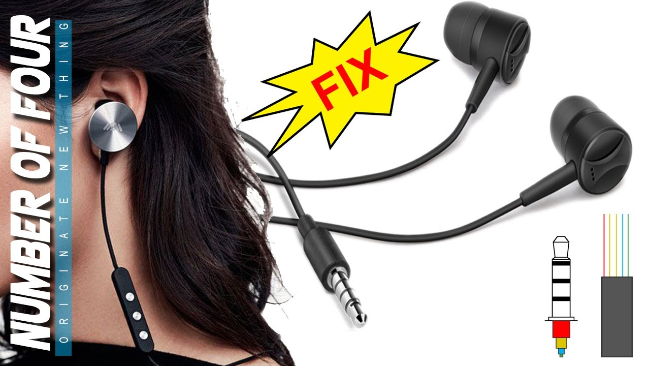 how to fix earphone working on one side how to wiring 5 wire in 4 pole earphone jack [ 1280 x 720 Pixel ]