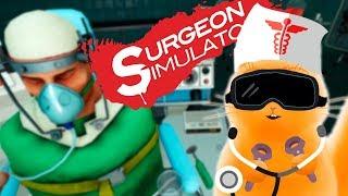 СИМУЛЯТОР ХИРУРГА В ИГРЕ Surgeon Simulator Experience Reality Кот Джем играет в очках реальности VR