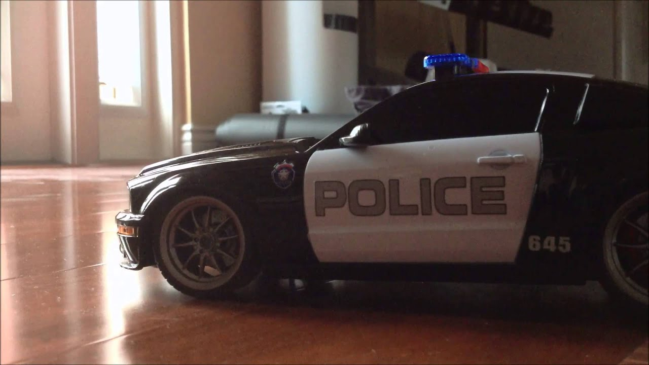 Rc Ford Mustang Gt 500 Cobra Police Car Youtube