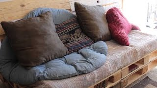 Pallet Wood Couch Project - How To - Couch 2