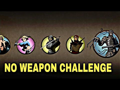 Shadow FIght 2 Defeating Lynx And Bodyguards Without Any Weapon - No Weapon Challenge
