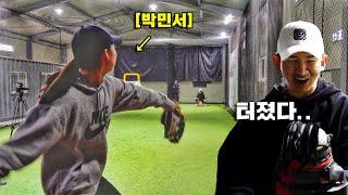 박민서, 야구 천재 소녀의 엄청난 피칭으로 포수 미트가…