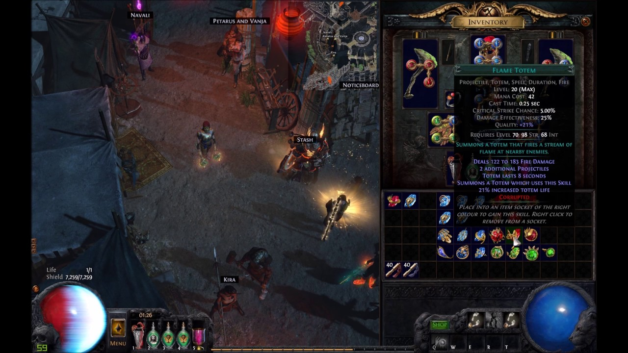 Path of Exile - Corrupting 25 level 20 gems