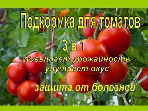 СУПЕР ПОДКОРМКА ТОМАТОВ 3 в 1 ВО ВРЕМЯ ЦВЕТЕНИЯ для увеличения урожая.