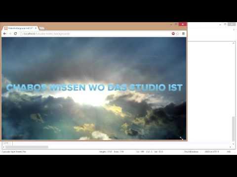 Videohintergrund Auf Webseiten - HTML Und CSS [GER] [TuTCube]